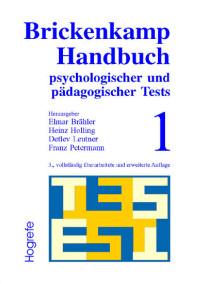 Brickenkamp Handbuch psychologischer und pädagogischer Tests